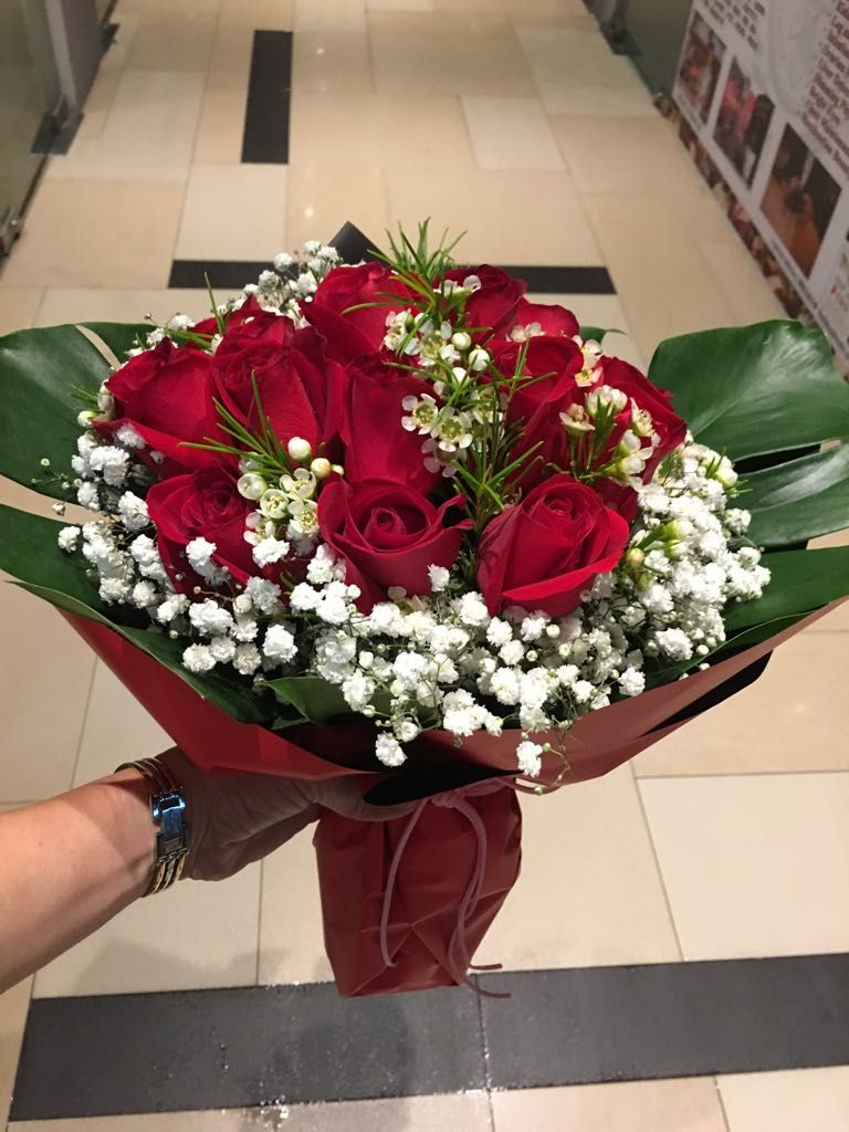 12 Red Rose Bouquet The Vine Florist